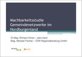 Machbarkeitsstudie Kleinregionen / Gemeindekooperationen im Nordburgenland